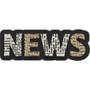 Black, White, and Read All Over- NEWS Word Art