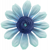 Black, White, and Read All Over- Turquoise Flower