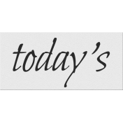 Black, White, and Read All Over- 'Today's' Word Strip