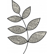 Black, White, and Read All Over- Leafy Branch