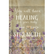 """""""Healing For Your Body"""" Inspirational Card"""