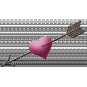 My Funky Valentine- Arrow Piercing Heart