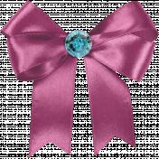 My Funky Valentine- Jeweled Satin Bow