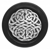 My Life Palette - Button (Silver Knotwork & Black)