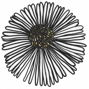 My Life Palette- Flower Doodle (White Aster)