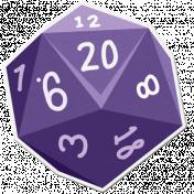 My Life Palette- Dice Sticker (Purple 20)