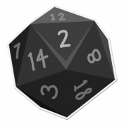 My Life Palette- Roleplaying Dice (Gray 2)
