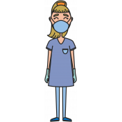 Surgeon With Mask Woman Illustration