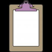 Clip Board Illustration