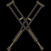Crutches 1 Illustration