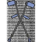 Crutches 2 Illustration