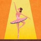 Ballet Pocket Card Ballet Girl1