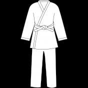 Karate Uniform White Illustration