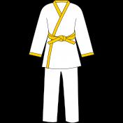 Karate Uniform Yellow Illustration