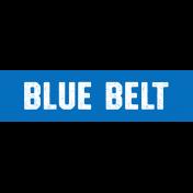 Karate Blue Belt Word Art