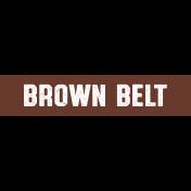 Karate Brown Belt Word Art