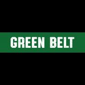 Karate Green Belt Word Art