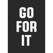 Karate Label Go For It Word Art