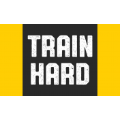 Karate Label Train Hard Word Art
