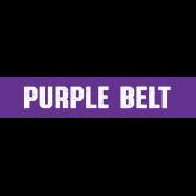 Karate Purple Belt Word Art