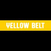 Karate Yellow Belt Word Art