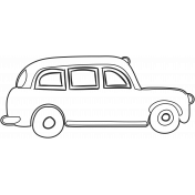 London Cab Illustration