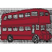 London Bus Color Illustration