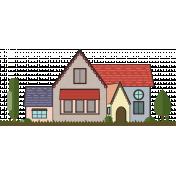 English Cottage Color Illustration