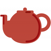 England Teapot Color Illustration