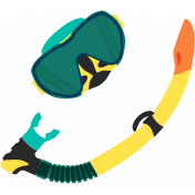 Summer Splash Illustrations 2 Snorkel Mask