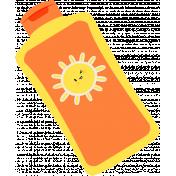 Summer Splash Illustrations 2 Sunscreen