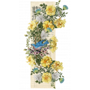 Roses and Feathers Border