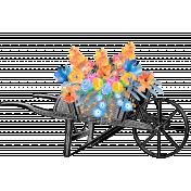 Antique Wheelbarrow and Flowers