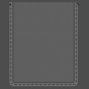 Clear 3x4 Pocket- Black Stitches