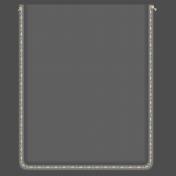 Clear 3x4 Pocket- White/Cream Stitches