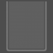 Clear 3x4 Pocket- No Stitches
