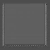 Clear 4x4 Pocket- Black Stitches