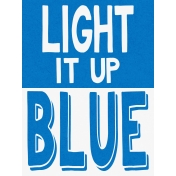 Autism Light It Up Blue Card