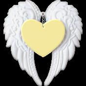 Baby- Angel Wings Heart Yellow