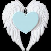 Baby- Angel Wings Heart Blue
