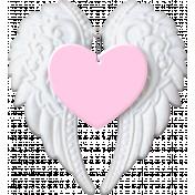 Baby- Angel Wings Heart Pink