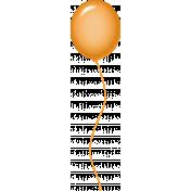 Birthday Balloon- Orange