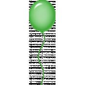 Birthday Balloon- Green