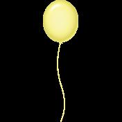 Birthday Balloon- Yellow