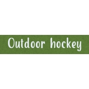 Home For The Holidays BT- Outdoor Hockey Word Strip