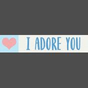 Love Knows No Borders Mini Kit- Word Strip 1