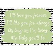 Mamma Dear Kit - My Baby Green