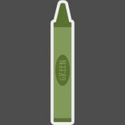 Kids Ahead Add-On- Green Crayon Sticker