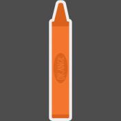 Kids Ahead Add-On- Orange Crayon Sticker