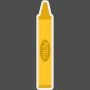 Kids Ahead Add-On- Yellow Crayon Sticker